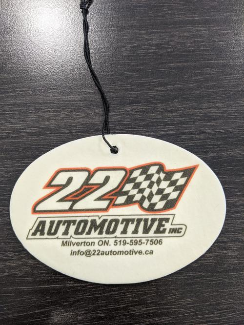 We've been ordering our air fresheners from you since we opened. We're very happy with them, as are our customers. Everyone thinks its such a creative idea for advertising. Thanks for making a great product!